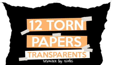 12 Torn Paper Transparents by neverbeentrusted