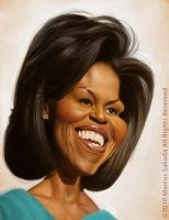 Michelle Obama Caricature by Jubhubmubfub