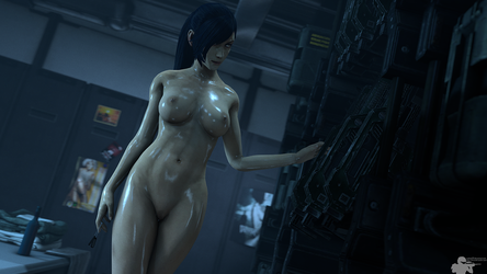 Late Night Shower on the USS Sequoia by Rookie425