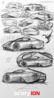 IED ABARTH scorpION - sketches by emrEHusmen