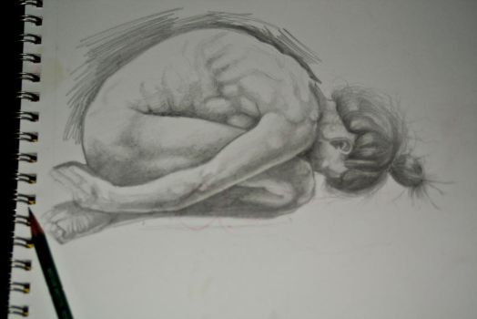 figure study sketch by kjarnold