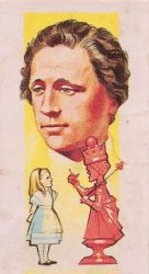 Antique Tea Card - Lewis Carroll by Yesterdays-Paper