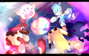 Smash Bros Tribute by aoii91