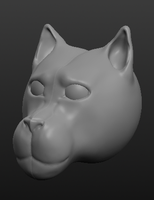 Sculptris - Dog head by horse14t