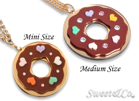 Kandy Donut Necklaces M and XL by SweetandCo