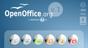 OpenOffice Dock Icons v.1 by ducatart