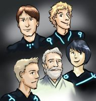 oh look I drew Tron characters by infiniteviking