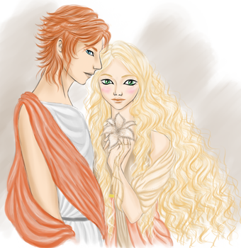 Phaedra and Ares by joyfullmelody