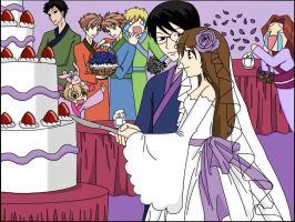 KyoyaXHaruhi-Wedding Cake by SisterStories