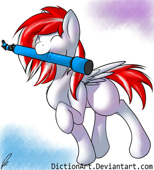 Look at That Little Colt and His New Telescope by DictionArt