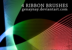 Ribbon Brushes by GENAYNAY