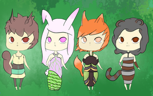 Kemonomimi Adoptables [CLOSED] by Kuejena