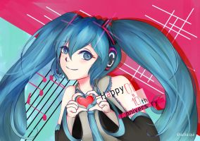 Hatsune Miku 10th Anniversary Fan-Art by LeMikey1997