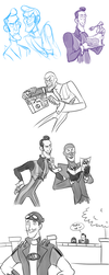 TF2/Lazy Town doodles by Py-Bun