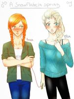 Elsa and Anna ( Elsanna ) by TheCatWithoutaFairy