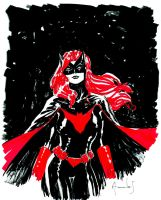 Batwoman scketch by UltimateRubberFool