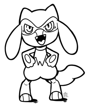 Riolu free to use lineart! by Scuterr