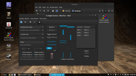 BleuFear for GTK+ 3.2, 3.4, 3.6 and 3.8 by m4xm4n