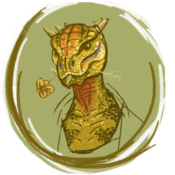 Eats-Flowers the Argonian by cael-illus
