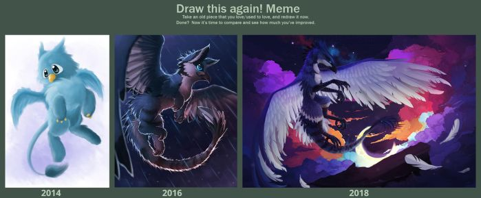 Draw this again - 2014 - 2017 - 2018 by NezuPanda