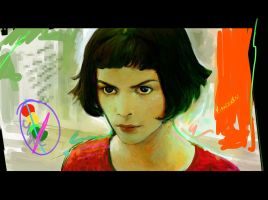 Amelie Poulain exercise by Kandoken
