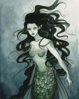 Dark Mermaid by Evanira