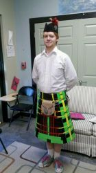 Duct Tape Scottish Kilt by Rift-Mark