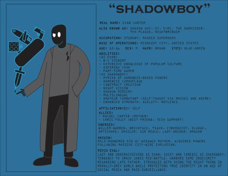 Character bios (Shadowboy) by BenjaminHopkins