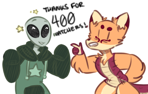 thanks for 400 fuckers by gurobaka