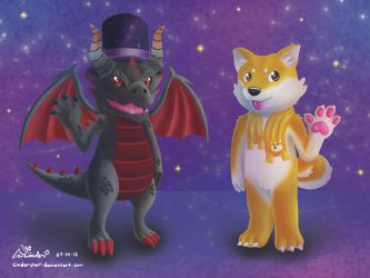 Dragon and Doge Roblox Avatars by CinderChar