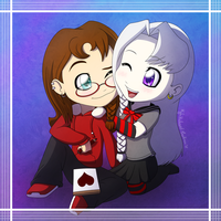 Jeb and Tori Chibi Commission by northstar2x