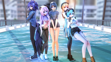 MMD - Aphmau Girls Night Out Model Pack (DL+) by Obi-Hates-everyone