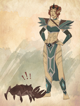 Almalexia and the Mudcrab by BeastQueen
