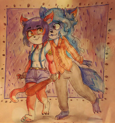 Comm)) Katherin and Azimuth by Delijz