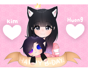 [Gift] Happy birthday kim huong! by BlueberryBear45