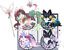 Kitsunet Adoptable Auction!!!(SOLD) by Miizue