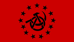 Anarcho-Communist USA flag by BullMoose1912