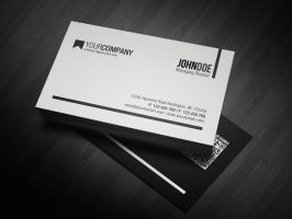 Minimal QR Code Business Card by glenngoh