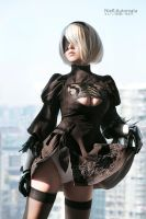 2B Cosplay 03 by DarknessWithinUs