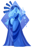 Blue Diamond Mural Version by Eyedra