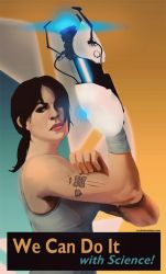 We Can Do It! Portal 2 Propaganda Poster by aelice