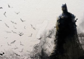 Batman Water Colour inspired by janditlev by zosco
