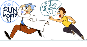 Run Morty by Softbreadnoises