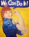 Rebecca the Riveter by beckuh
