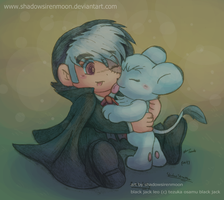 Chibi Black Jack with Luna Luna by shadowsirenmoon