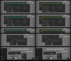 Numix Dark Cyan and Green Theme Win10 April 1803 by Cleodesktop