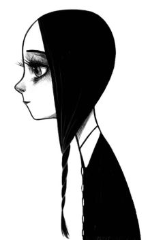 Wednesday Addams by courtneygodbey