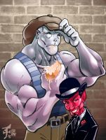 BUMPER and Mr. Grin by POWERSMITH2