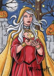 Witch Sketch Card 3 - Hallowe'en Witchcraft by ElainePerna