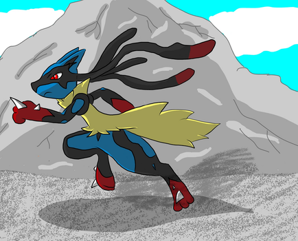 Mega Lucario by dragzata